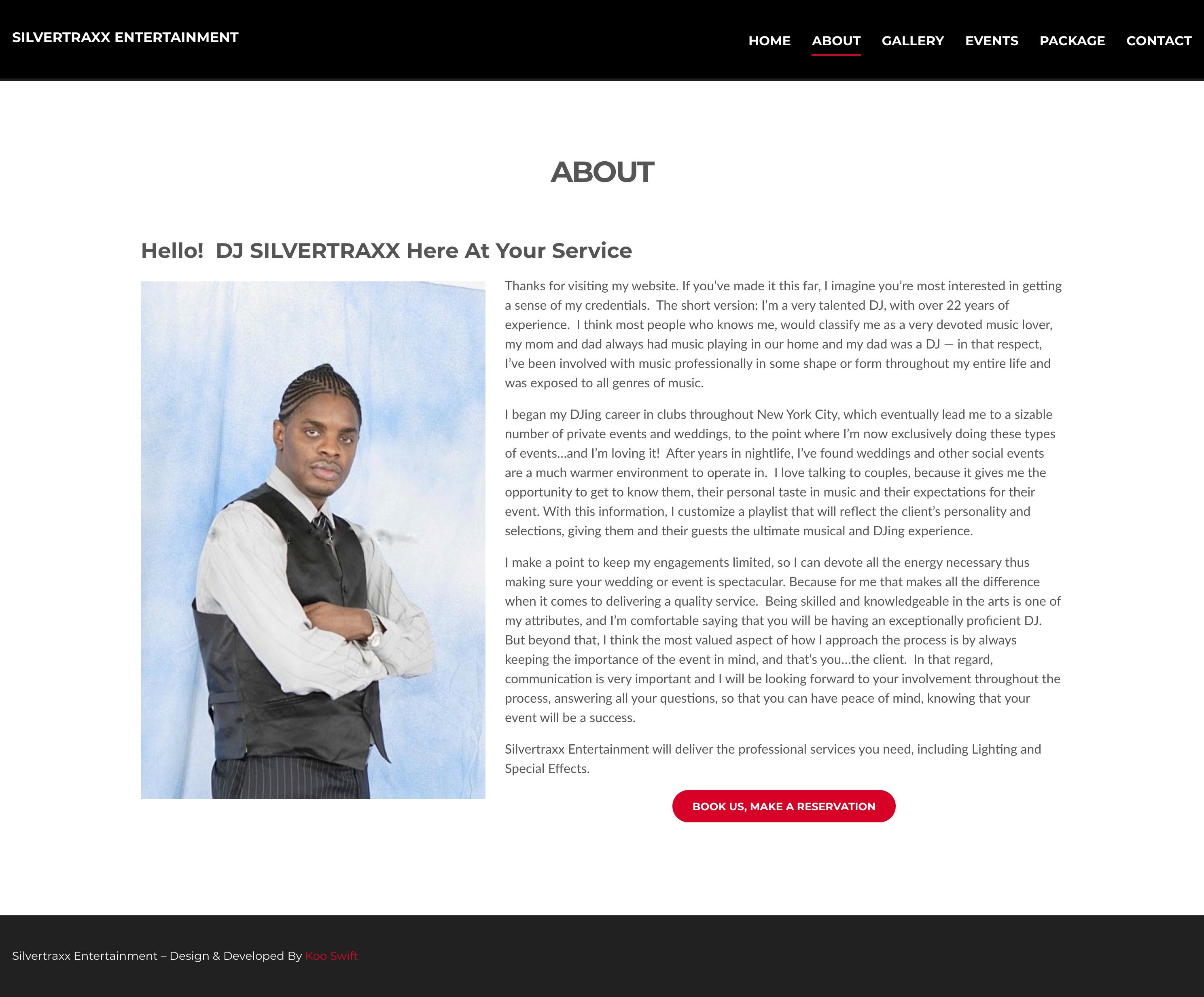 Silvertraxx Entertainment about