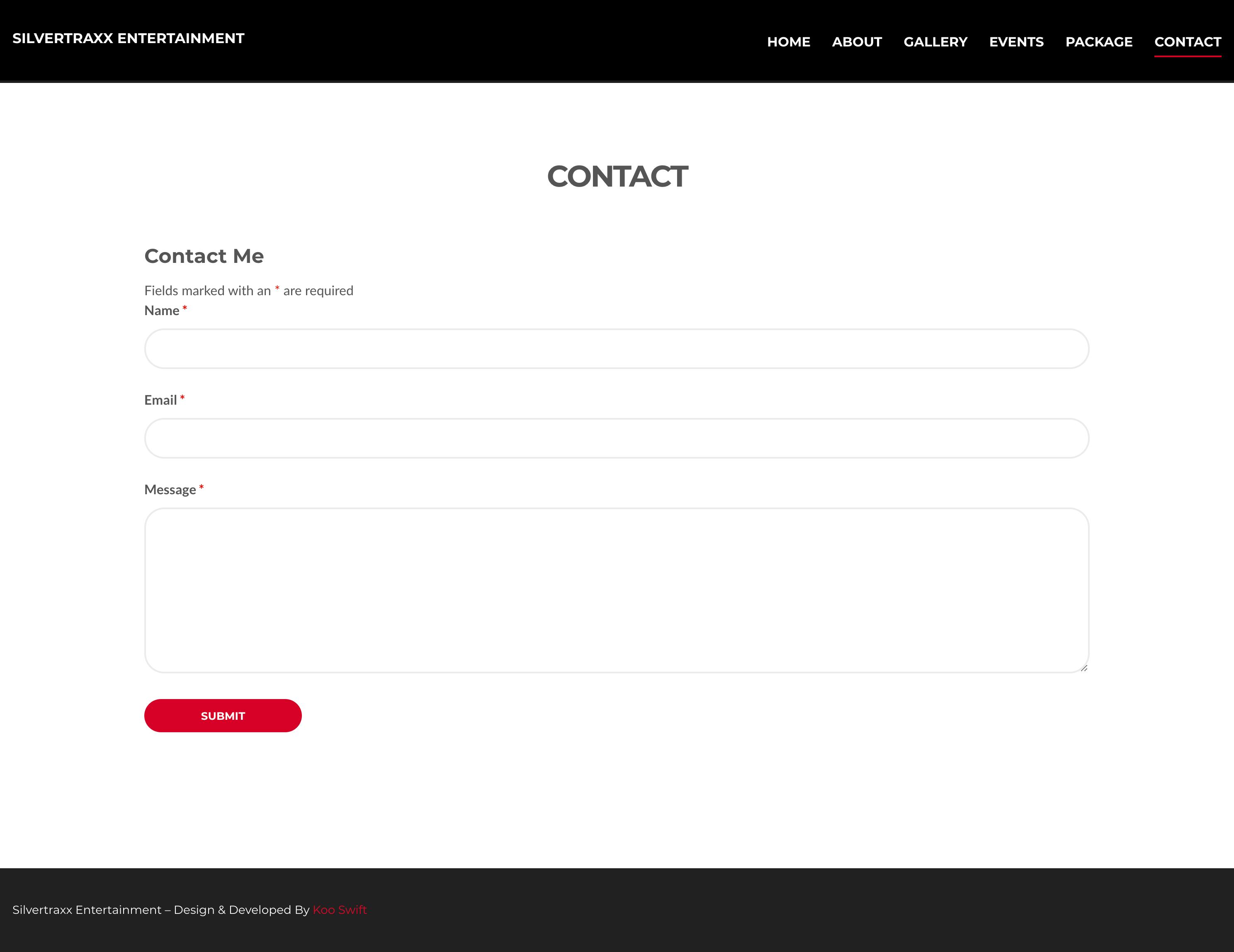 Silvertraxx Entertainment contact