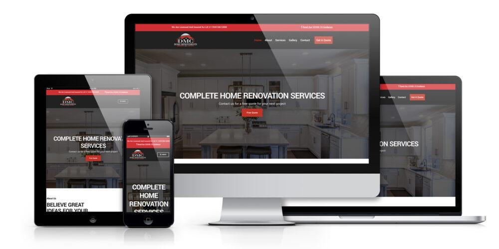 DMC Home Improvements, LLC Website mock-up